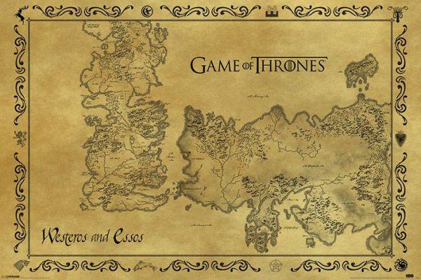 Game of Thrones / Trónok Harca Poszter – Antique Térkép