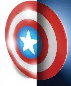 Marvel Comics 3D LED világítás - Amerika Kapitány Pajzsa