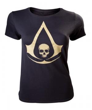 Assassin's Creed IV arany logó póló