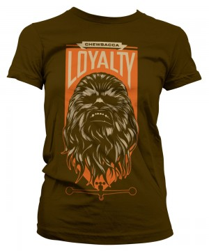 Chewbacca Loyalty Girly Tee (Brown)