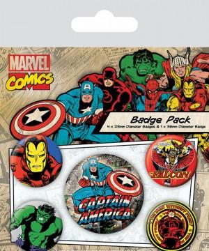 Marvel Comics Pin Badges 5-Pack Captain America