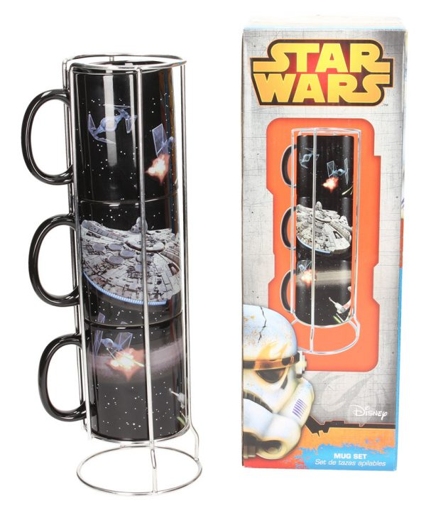 Star Wars Stackable Mugs Set Death Star - Millenium Battle