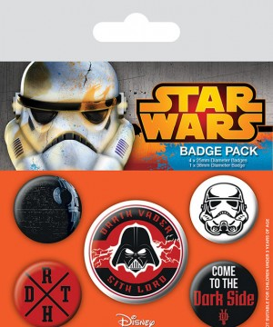 Star Wars Pin Badges 5-Pack Dark Side