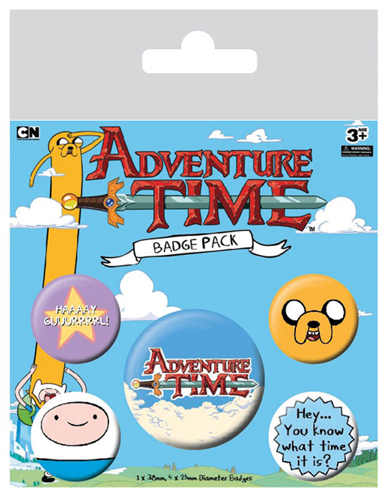 Adventure Time Pin Badges 5-Pack