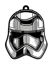 Star Wars Episode VII Rubber Keychain Captain Phasma 6 cm