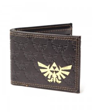 NINTENDO - ZELDA BIFOLD WALLET WITH GOLD LOGO