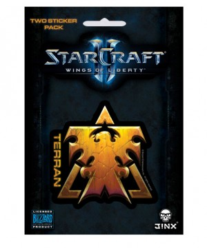 StarCraft II Sticker 2-Pack Terran Wings Of Liberty