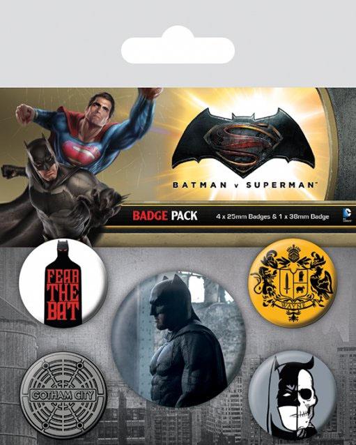 Batman v Superman Pin Badges 5-Pack Batman