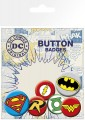 DC Comics Pin Badges 6-Pack Logos