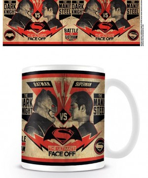 Batman v Superman Mug Fight Poster