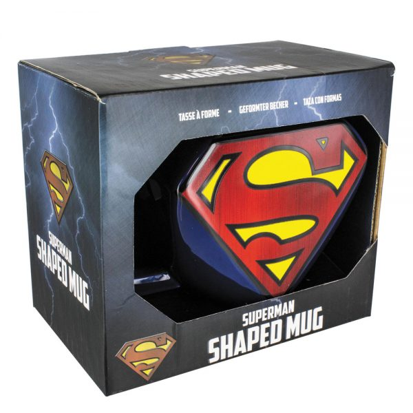 DC Comics Mug Shaped Superman Logo 13 cm