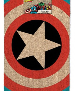 Marvel Comics Doormat Captain America Shield 40 x 60 cm