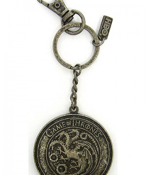 Game of Thrones Metal Keychain Targaryen Shield