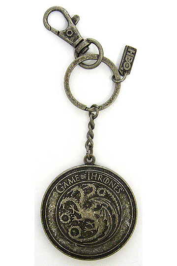 Game of Thrones Metal Keychain Targaryen Shield