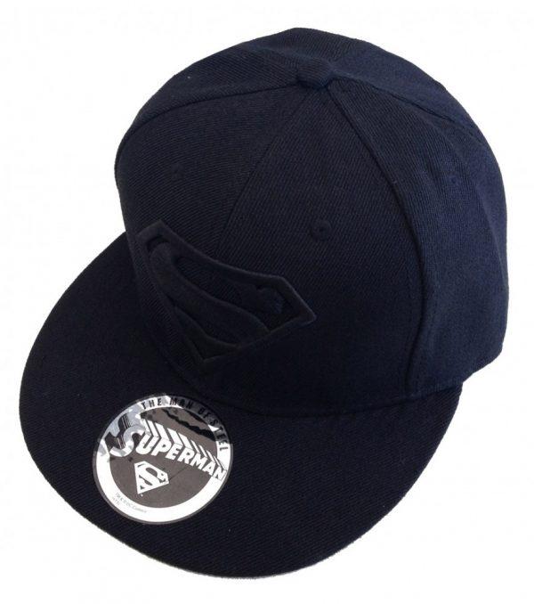 Superman Adjustable Cap Black Logo