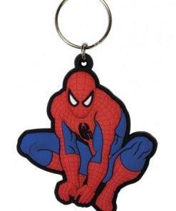 Spider-Man Rubber Keychain Crouch 6 cm