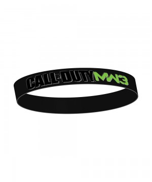 Call Of Duty - MW3 Black Rubber Wristband