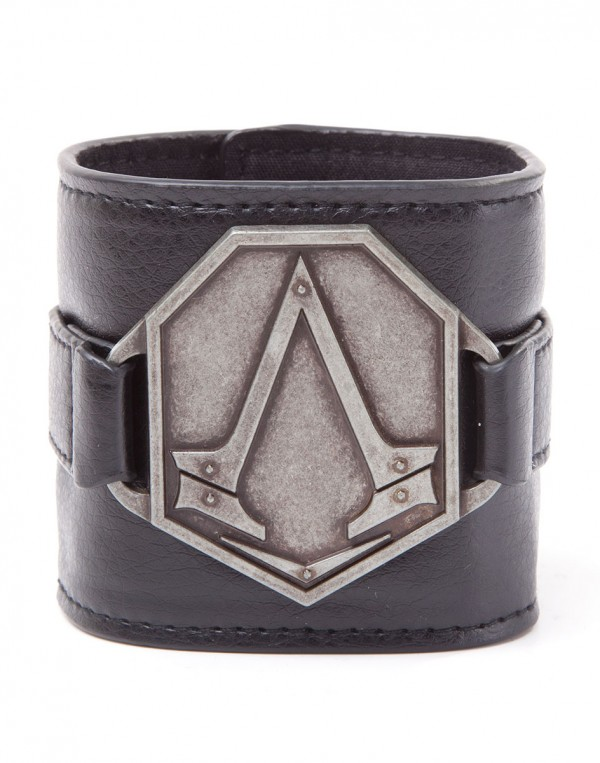 Assassin's Creed - PU Wristband with Metal Logo
