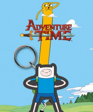 Adventure Time Rubber Keychain Finn 7 cm
