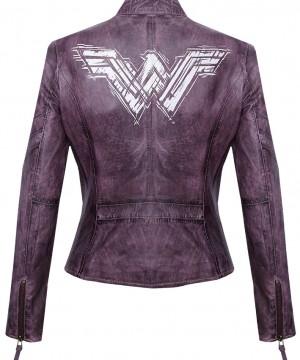 Batman v Superman Dawn of Justice Ladies Leather Jacket Wonder Woman Brave