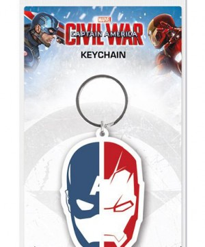 Captain America Civil War kulcstartó - Face Split