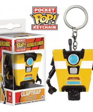 Borderlands Pocket POP! Vinyl Keychain Claptrap 4 cm