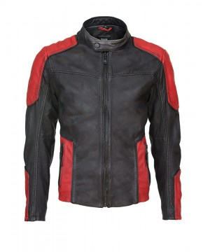 Suicide Squad Leather Jacket Deadshot Black/Red