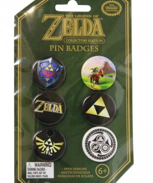 Legend of Zelda Pin Badges 6-Pack