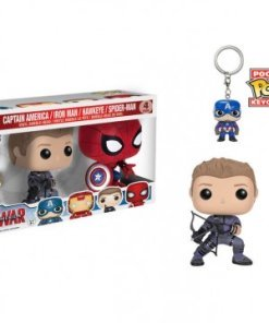 Captain America Civil War POP! Marvel Vinyl Figures & Keychain 4-Pack 9 m
