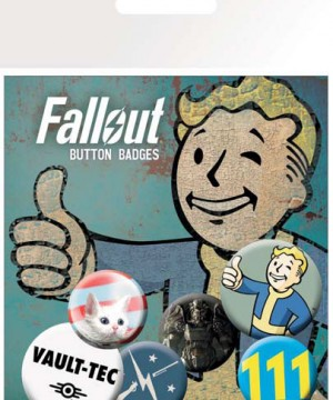 Fallout Pin Badges 6-Pack Mix 1