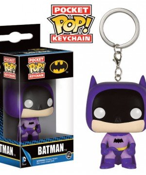 DC Comics Pocket POP! Vinyl Keychain 75th Anniversary Batman Purple 4 cm