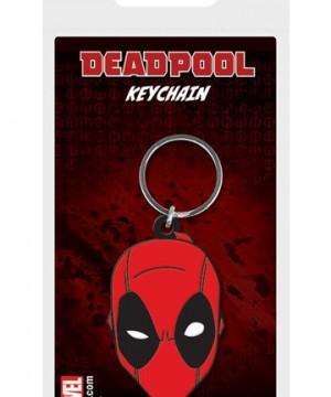 Marvel Comics Rubber Keychain Deadpool Face 6 cm