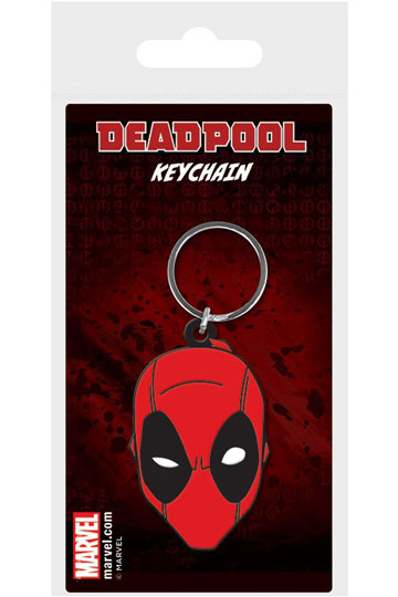 Marvel Comics Rubber Keychain Deadpool Face 6 cm