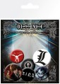 Death Note Pin Badges 6-Pack Mix