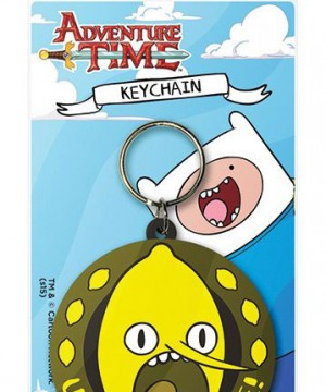 Adventure Time Rubber Keychain Lemongrab Unacceptable 6 cm