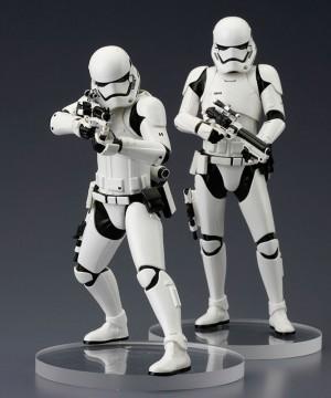 Star Wars Episode VII ARTFX+ Szobor 2-Pack First Order Stormtrooper 18 cm