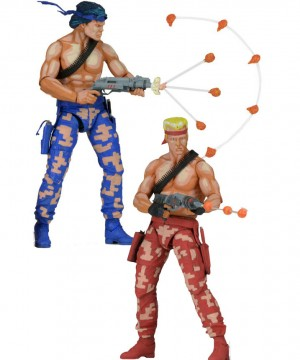 Contra Action Figures 2-Pack Bill & Lance Video Game Appearance 18 cm