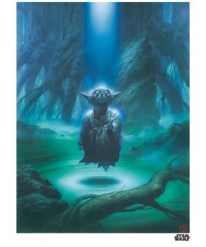Star Wars Art Print Yoda 35 x 28 cm
