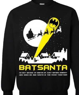 DC Comics karácsonyi pulóver - Batsanta