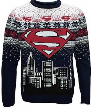 DC Comics karácsonyi kötött pulóver - Superman