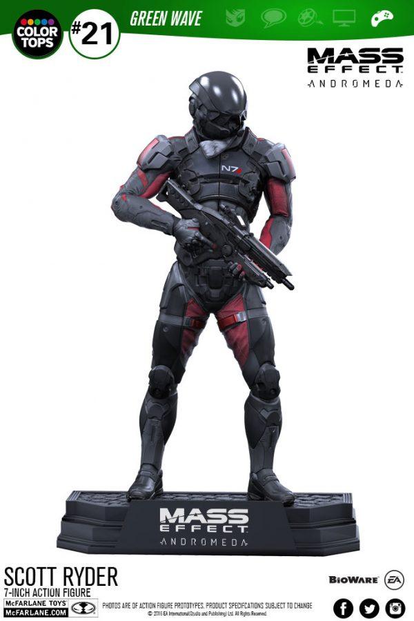Mass Effect Andromeda - Scott Ryder Color Tops akciófigura