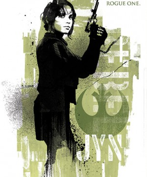 Star Wars Rogue One Poster Pack Jyn Grunge 61 x 91 cm