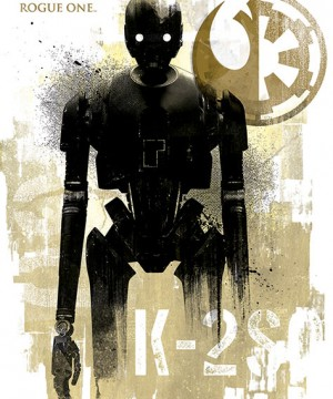 Star Wars Rogue One Poster Pack K-2SO Grunge 61 x 91 cm