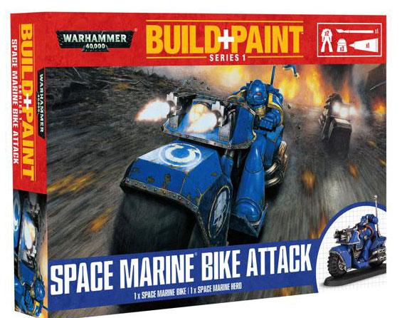 Warhammer 40k Model set - Space Marine Bike Attack