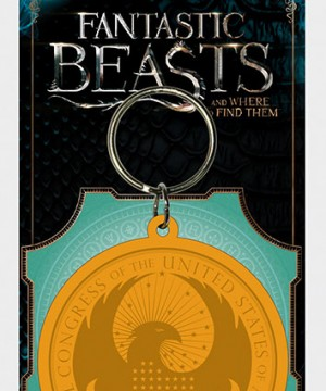 Fantastic Beasts Rubber Keychain Macusa Logo 6 cm