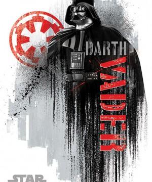 Star Wars Rogue One - Darth Vader Grunge Poszter
