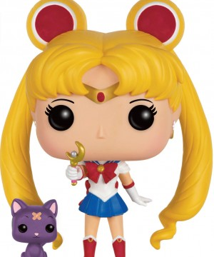 Sailor Moon POP! Animation Vinyl Figure Sailor Moon & Luna with Moon Stick 9 cm