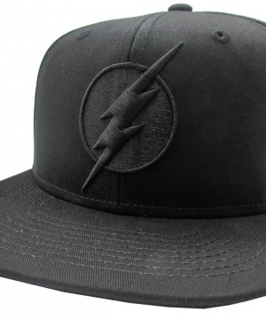 The Flash Snap Back Cap Black On Black