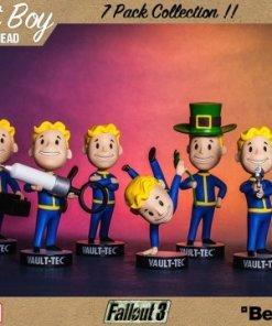 Fallout 3 Bobble-Heads 13 cm Vault-Tec Vault Boys Series 3 7-Pack