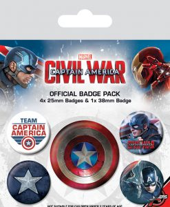 Marvel Comics - Civil War Amerika Kapitány kitűzők